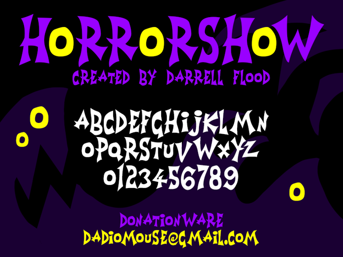 Horrorshow Font poster