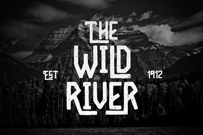 Wild River Font poster