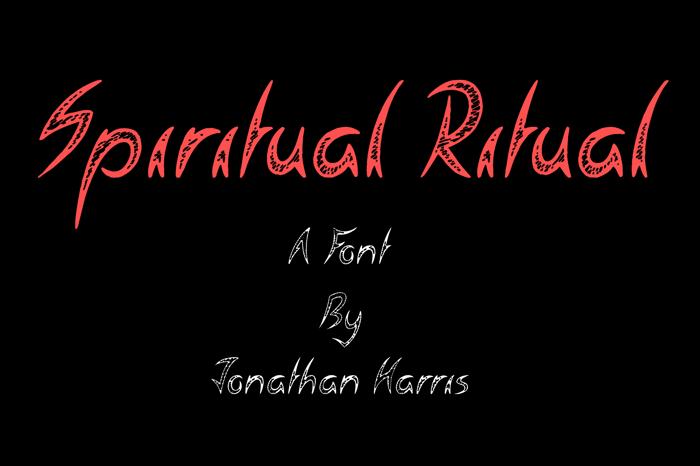Spiritual Ritual Font poster