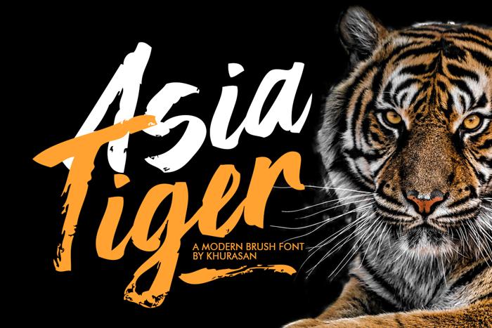 Asia Tiger Font poster