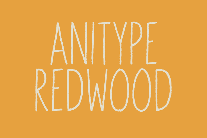 Anitype Redwood1 Font