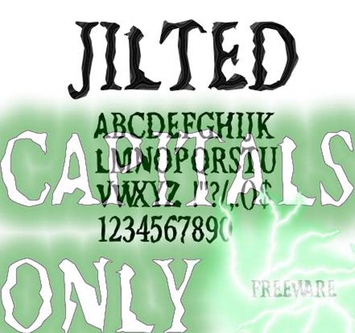 Jilted Font poster