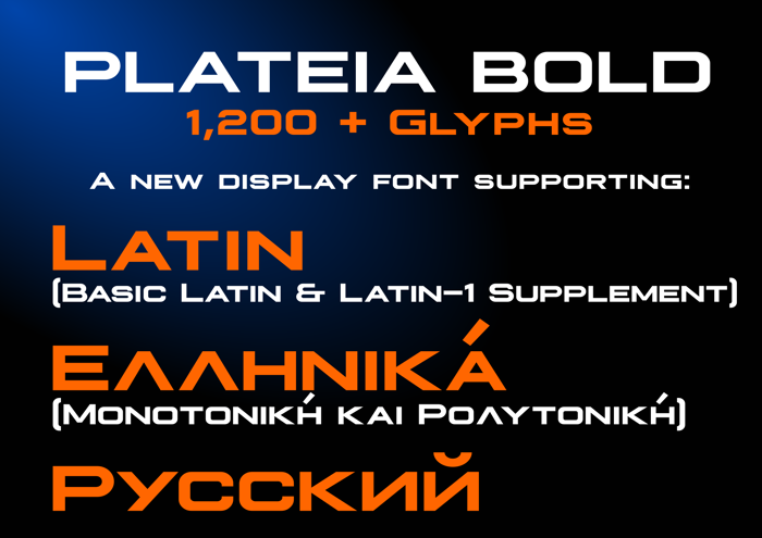 Plateia Font poster