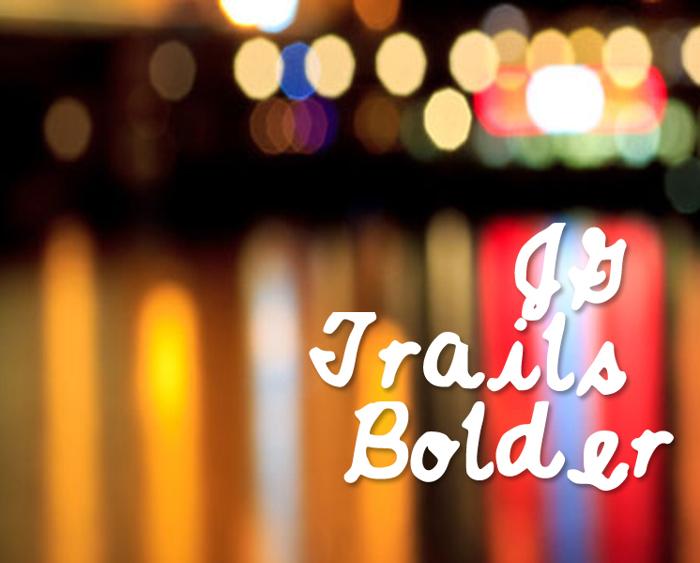 JGTrailsBolder Font poster