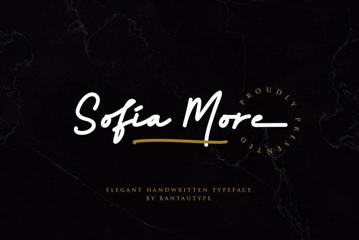 Sofia More Font poster