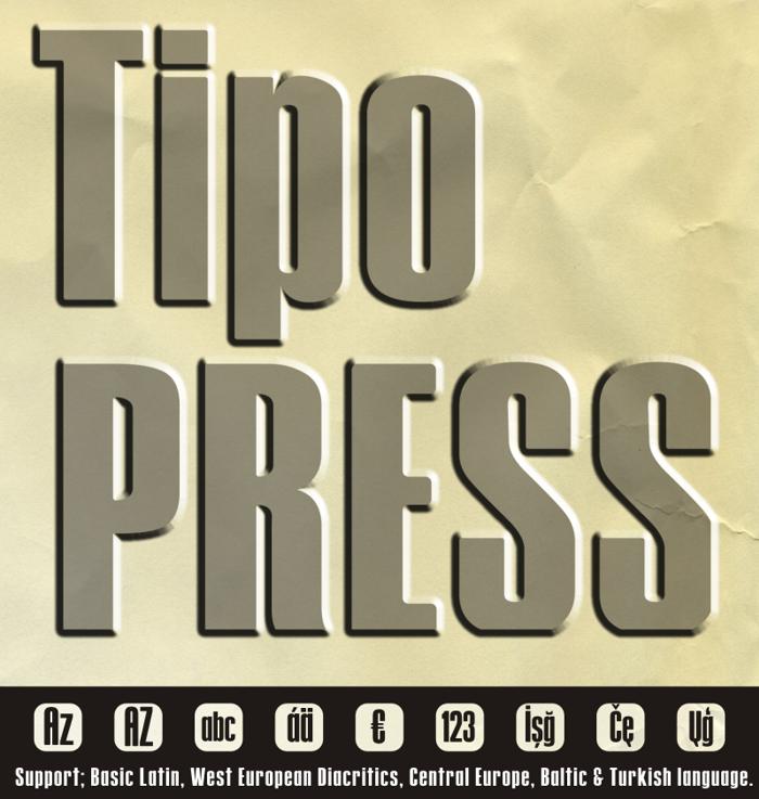 Tipo PRESS Font poster