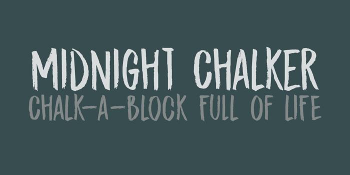 DK Midnight Chalker Font poster