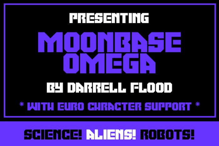 Moonbase Omega Font poster