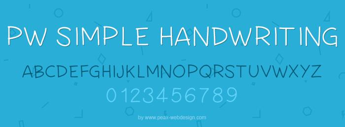 PWSimpleHandwriting Font poster
