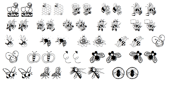 Bees Font poster