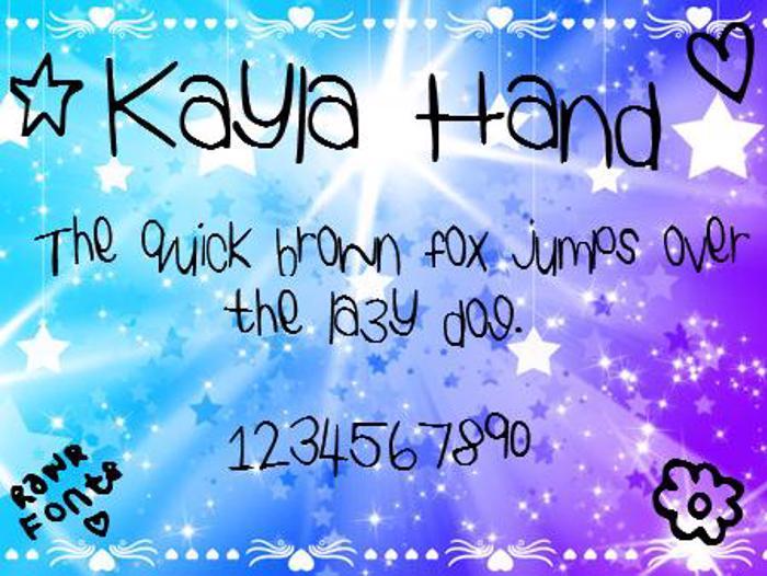 KaylaHand Font poster