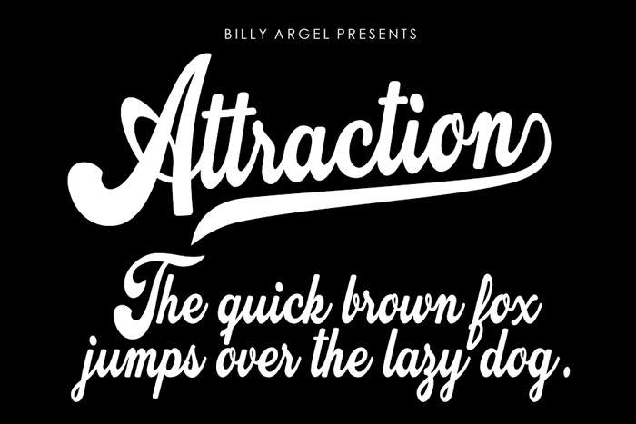 Attraction Font poster