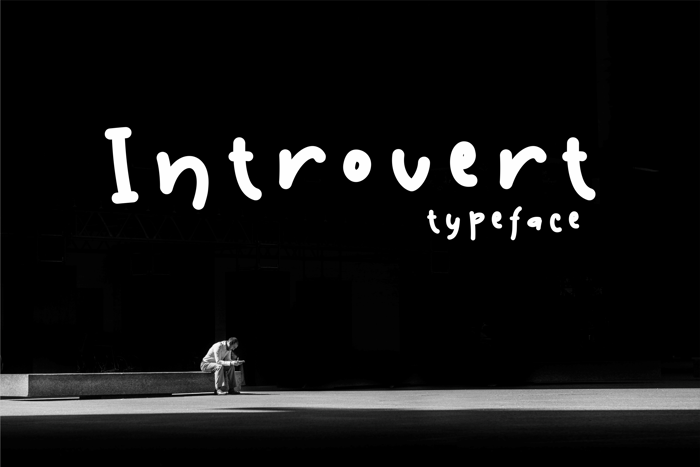 Introvert Font poster