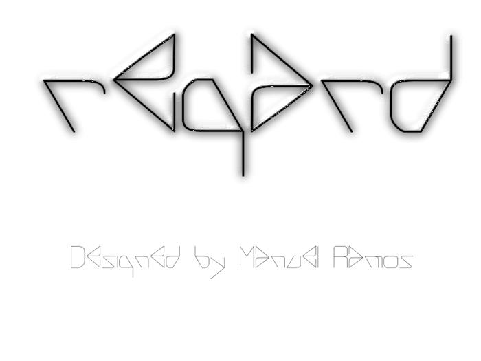 REGARD Font poster
