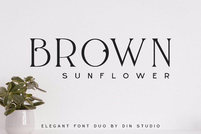 BROWN SUNFLOWER SERIF Font poster