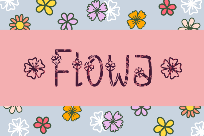 Flowa Font poster