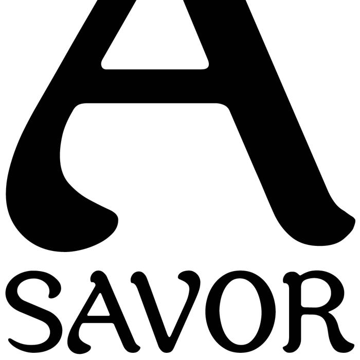 Savor Font poster
