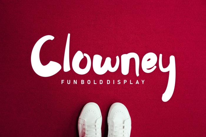 Clowney Font poster