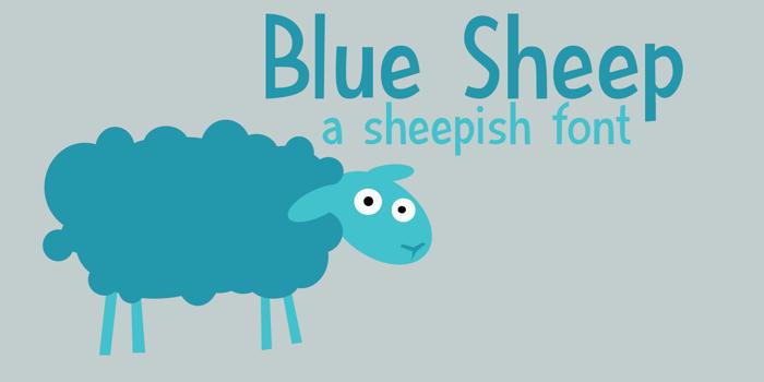 DK Blue Sheep Font poster
