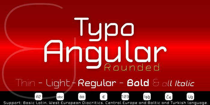 Typo Angular Demo Font poster