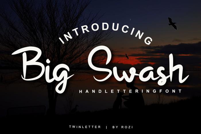 Bigswash Font poster