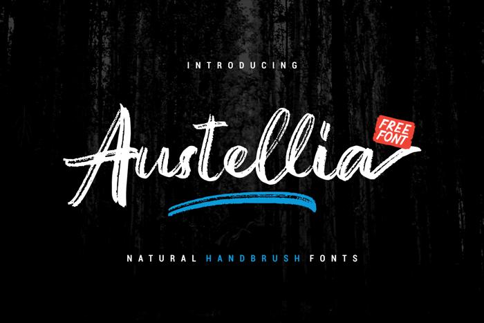 Austellia Font poster