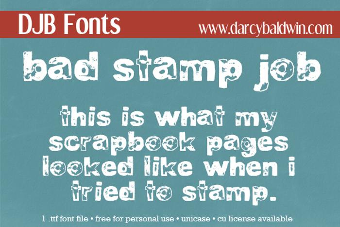 DJB BAD STAMP JOB 1 poster