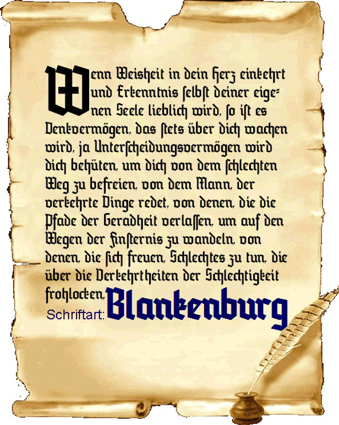 Blankenburg Font poster