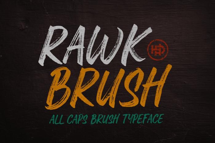 Rawk Brush Font poster