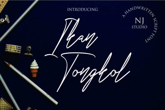 Ikan Tongkol Font poster