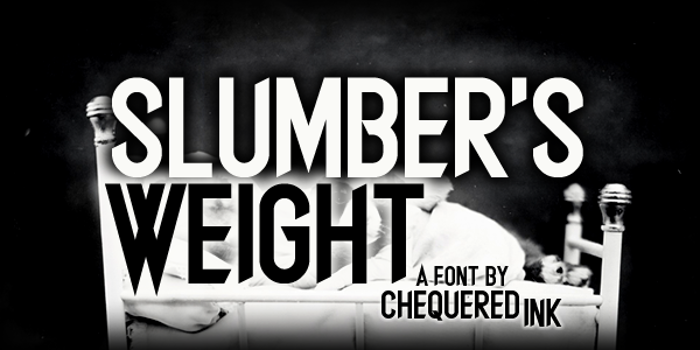 Slumber's Weight Font poster