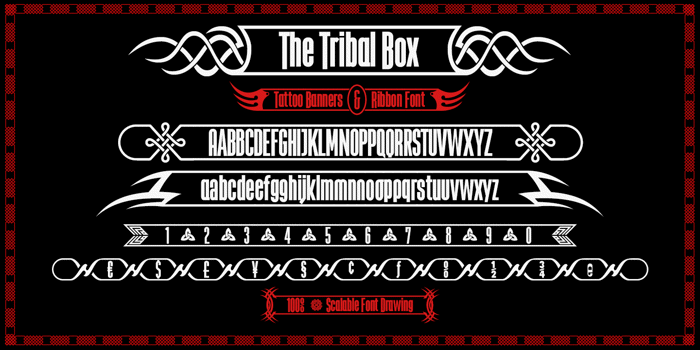 The Tribal Box Font poster