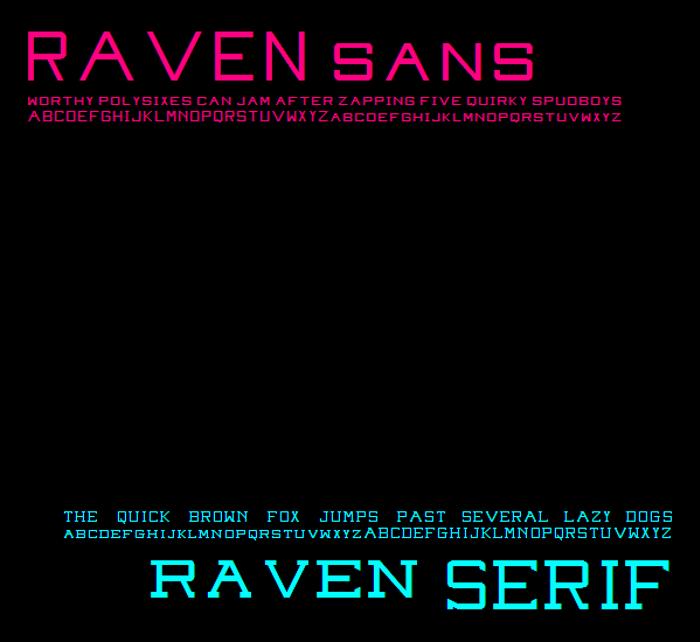 Raven Sans NBP Font poster