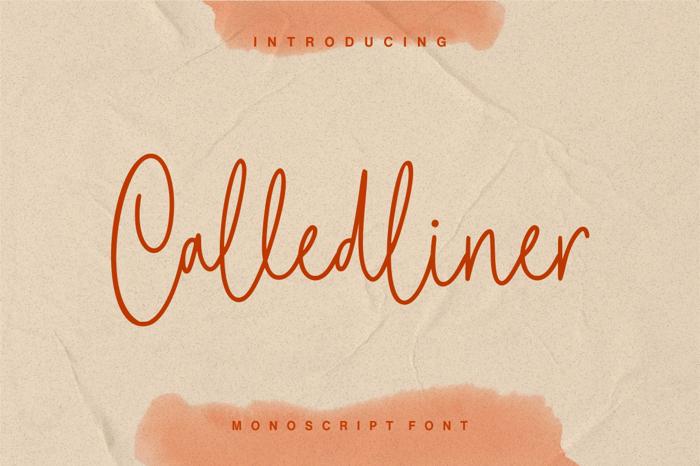Calledliner Font poster