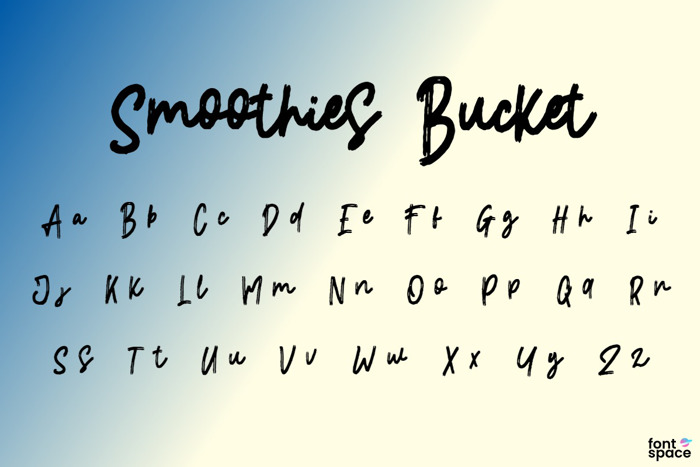 Smoothies Bucket Font poster