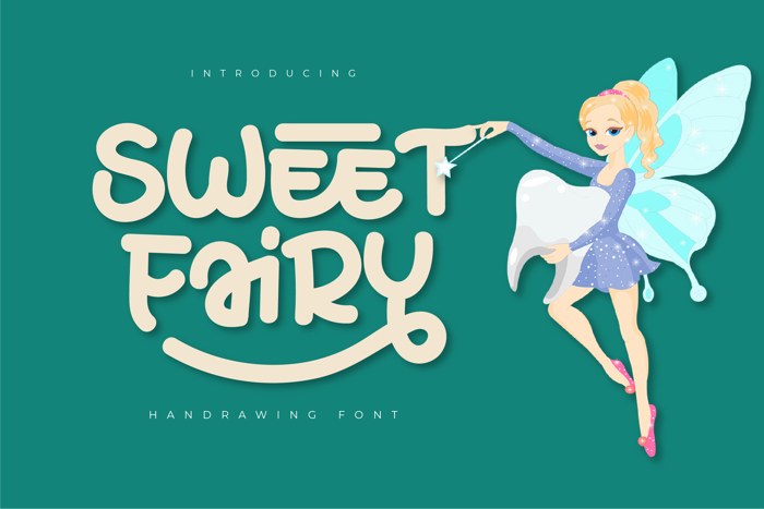 SWEET FAIRY Font poster