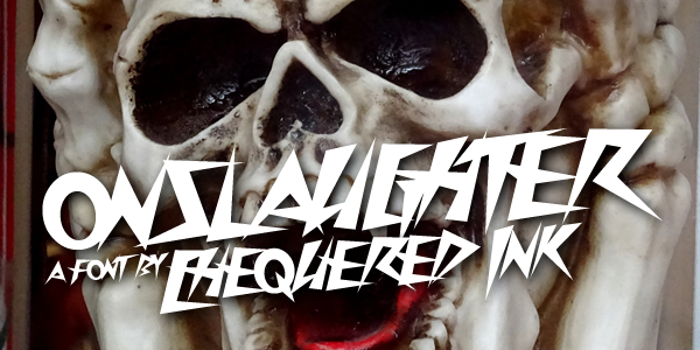 Onslaughter Font poster