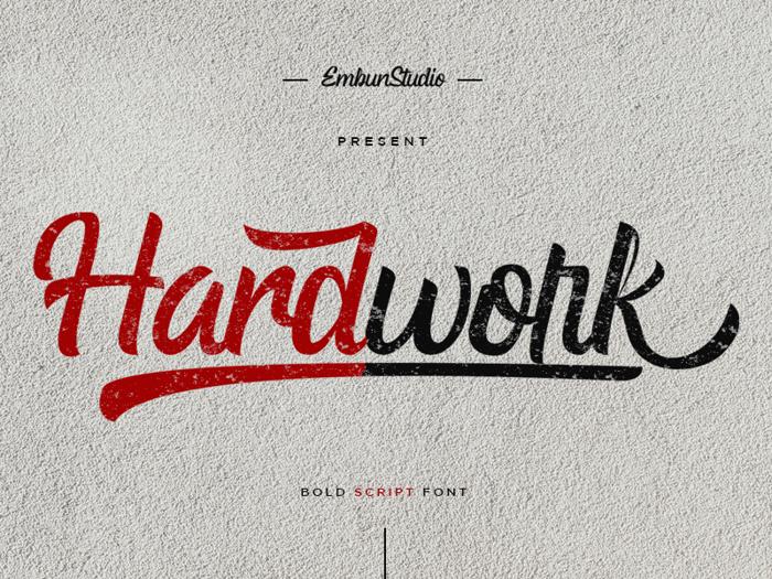 Hardwork Font poster