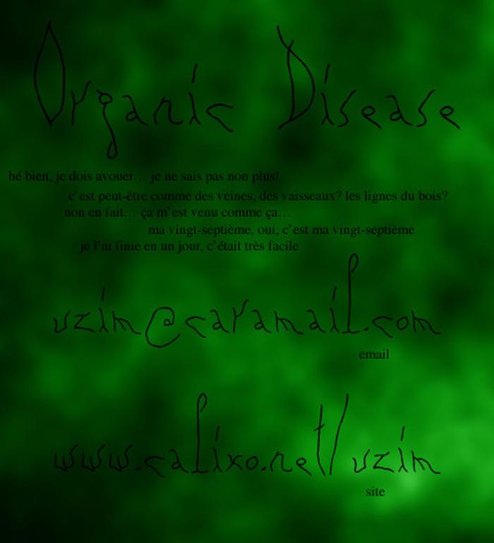Organic Disease Font poster