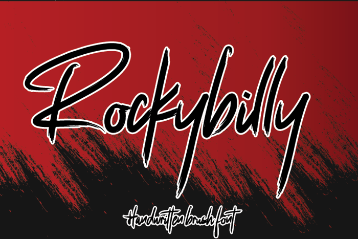 Rockybilly Font poster