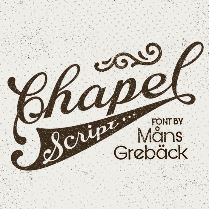 Chapel Script Font poster