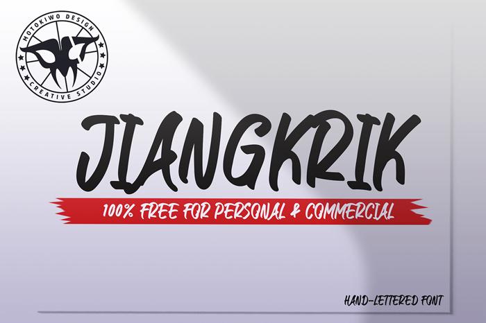 JIANGKRIK Font poster