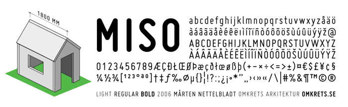 Miso Font poster