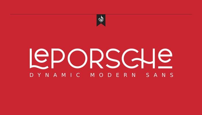 Le Porsche Font poster