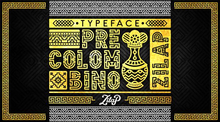 Zilap Precolombino Font poster