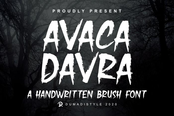 Avaca Davra Font poster