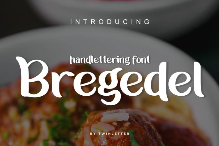 Bregedel Font poster