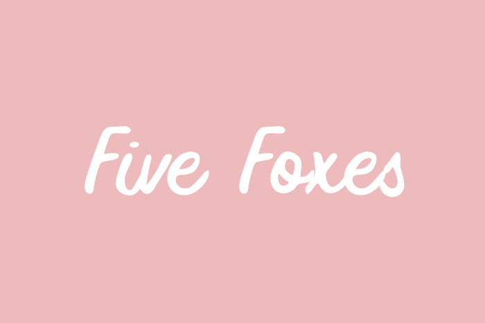 Five Foxes Font poster
