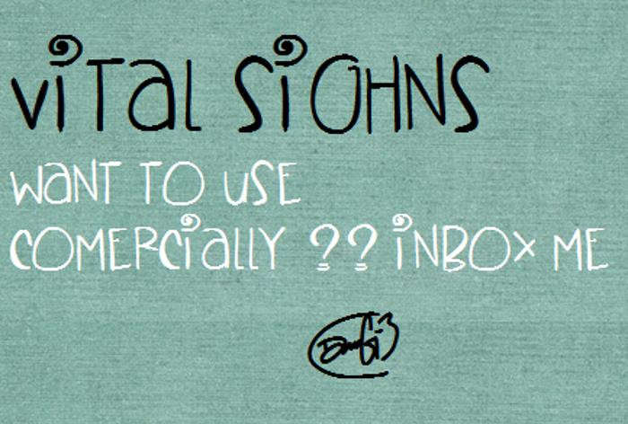 VitalSighns Font poster
