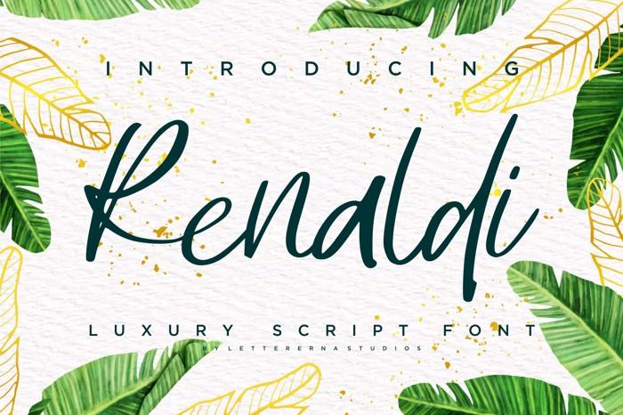 Renaldi Font poster